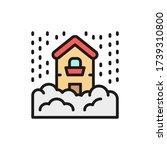 snowfall  snow  natural... | Shutterstock .eps vector #1739310800