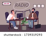 radio talk show show flat color ... | Shutterstock .eps vector #1739319293