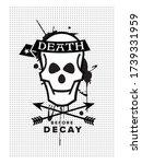 death poster design   death... | Shutterstock .eps vector #1739331959