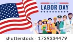 happy labor day. various... | Shutterstock .eps vector #1739334479