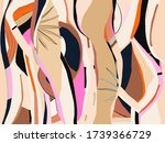 trendy artistic abstract... | Shutterstock .eps vector #1739366729