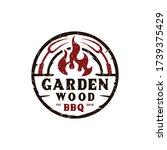 vintage retro garden bbq grill  ...   Shutterstock .eps vector #1739375429