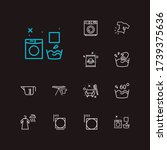 clothes icons set. info and...