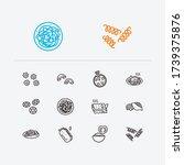 cuisine icons set. riccioli...