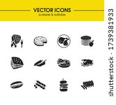us food icons set with...