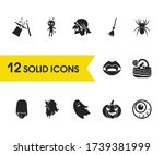 feast icons set with witch...