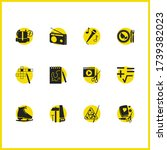 hobby icons set with sketching  ...