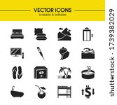 tourism icons set with... | Shutterstock .eps vector #1739382029