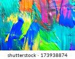 abstract art background. hand... | Shutterstock . vector #173938874