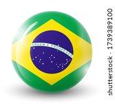 glass light ball with flag of... | Shutterstock .eps vector #1739389100