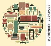 icons of furniture and... | Shutterstock .eps vector #173939339