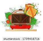 bright vector illustration of a ... | Shutterstock .eps vector #1739418716