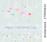 happy valentine's day card ... | Shutterstock .eps vector #173943614
