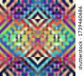 aztec ornament. vector image.... | Shutterstock .eps vector #1739460686