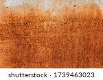 Old Metal Iron Panel. Rusted...