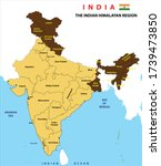 india map. political map of...   Shutterstock .eps vector #1739473850