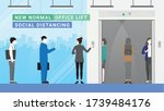 business people waiting for... | Shutterstock .eps vector #1739484176