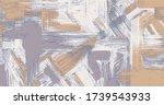 random cross hatching rough oil ... | Shutterstock .eps vector #1739543933