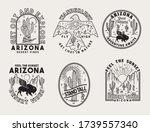 set of vector arizona desert... | Shutterstock .eps vector #1739557340