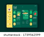 healthy food tablet interface...