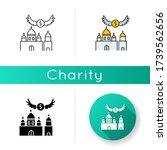 Church Donation Icon. Charity...