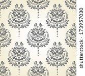 damask pattern | Shutterstock .eps vector #173957030