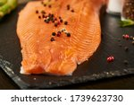 Salmon with black pepper on...
