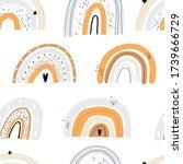 vector hand drawn color... | Shutterstock .eps vector #1739666729