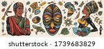 africa. old school tattoo... | Shutterstock .eps vector #1739683829