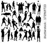 basketball set | Shutterstock .eps vector #173969723