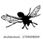 wasp vector silhouette... | Shutterstock .eps vector #1739698049