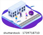scared person running away from ... | Shutterstock .eps vector #1739718710