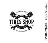 vintage monochrome car repair... | Shutterstock .eps vector #1739723363