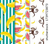 set of summer patterns with... | Shutterstock .eps vector #1739723873