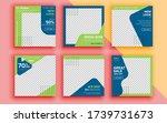 set of sale banner template... | Shutterstock .eps vector #1739731673