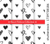 set of patterns with black hand ... | Shutterstock .eps vector #1739738186