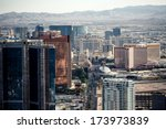 aerial view of las vegas taken... | Shutterstock . vector #173973839