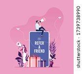 refer a friend concept ...   Shutterstock .eps vector #1739738990