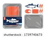 vector alaskan pink salmon...   Shutterstock .eps vector #1739740673