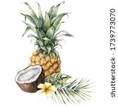 watercolor composition of... | Shutterstock . vector #1739773070