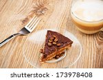 cup of coffee latte with... | Shutterstock . vector #173978408