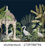 border with ancient arbor and...   Shutterstock .eps vector #1739788796