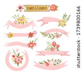 set of vignettes with space for ... | Shutterstock .eps vector #1739800166