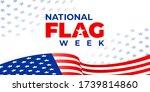 National Flag Week. Vector...