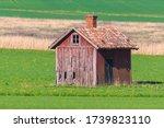 Abandoned Wooden Storage Barn...