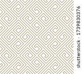 seamless simple gold geometric... | Shutterstock .eps vector #1739830376