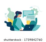 vector illustration  customer... | Shutterstock .eps vector #1739842760