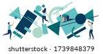 vector illustration flat people.... | Shutterstock .eps vector #1739848379
