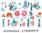 symbol of corona virus flu by... | Shutterstock .eps vector #1739849579