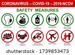orona virus set infographic... | Shutterstock .eps vector #1739853473